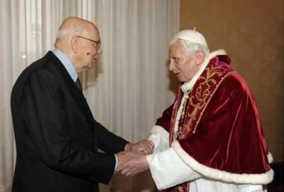 BenedettoXVI Napolitano