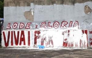 san_lorenzo - milizia imbratta scritta partigiani